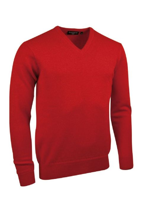 100% Lambswool  V Neck Sweater by Glenmuir 1891 - Style Lomond